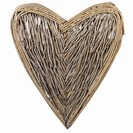 EX.LARGE WICKER WALL HEART