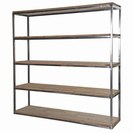 COLONIAL RECLAIMED PINE/METAL LARGE OPEN SHELF UNIT